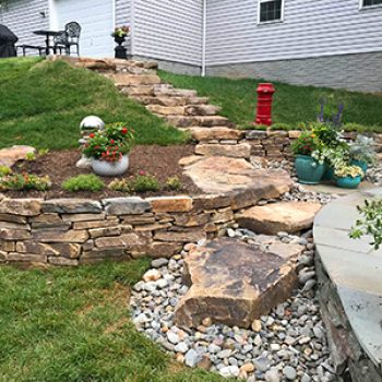 stone steps to house