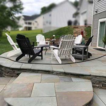 unique stone patio