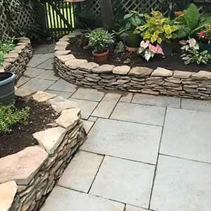 stone edged walkway
