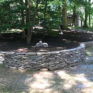 stone tree bed walls