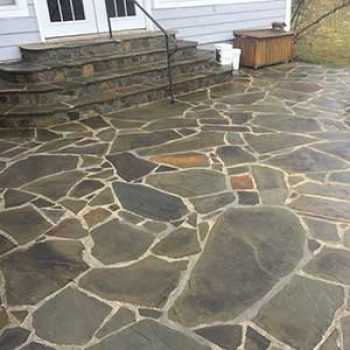 stone patio in Loudoun County