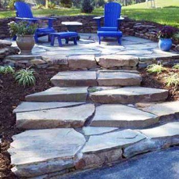 stonework outdoor patio