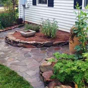 custom flower beds stone